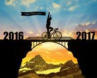 Door:sturen aan het Nieuwjaar 2017 Stock Foto's