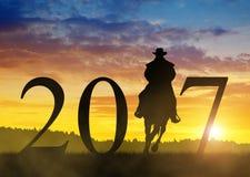Door:sturen aan het Nieuwjaar 2017 Royalty-vrije Stock Fotografie