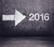 Door:sturen aan 2016 Nieuwjaar stock illustratie