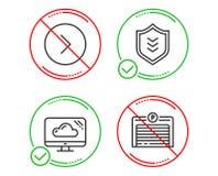 Door:sturen, betrek opslag en Schild geplaatste pictogrammen Het teken van de parkerengarage Vector stock illustratie