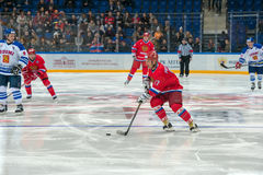 Door:sturen het Russische Nationale Team, Vitaly Prokhorov (27) Stock Fotografie
