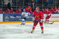 Door:sturen het Russische Nationale Team, Vitaly Prokhorov (27) Royalty-vrije Stock Afbeeldingen