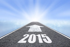 Door:sturen tot 2015 nieuw jaarconcept Stock Foto's