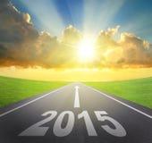 Door:sturen tot 2015 nieuw jaarconcept Royalty-vrije Stock Foto