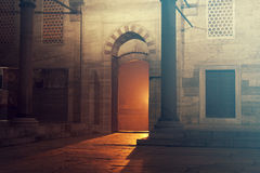 Door. On Sultan Ahmed Mosque in Istanbul, Turkey Stock Photography