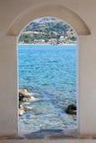 Window into summer royalty free stock photos