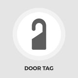 Door Tag Line Icon. Door Tag Icon Vector. Flat icon  on the white background. Editable EPS file. Vector illustration Royalty Free Stock Photos