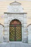 Medieval Door in Tallinn stock photos