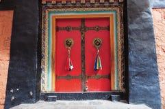 Door of Tashilhunpo temple, Tibet buddhism temple Stock Photo