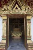 Door of temple Haw Pha Bang. In Luang Prabang, Laos royalty free stock photo
