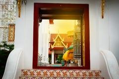 Door temple at Thailand Royalty Free Stock Photos