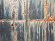 Door texture background in China village stock images