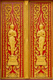 Door of Thai church. Royalty Free Stock Photography