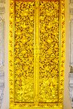 Door on Thai Lanna style,Phrae,Thailand Royalty Free Stock Photos