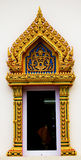 Door thai temple Royalty Free Stock Images