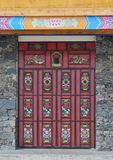 Door with Tibetan Style Stock Image