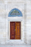 Door and tile panet in Fatih Mosque, Istanbul, Turkey Royalty Free Stock Photography