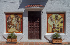 Door and tiles, Marbella, Spain Stock Image