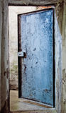 Door to an abandoned warehouse Royalty Free Stock Photo