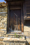 The door to the barn in the Balkan village Stock Images