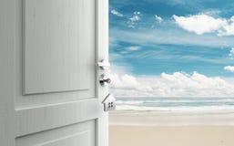 Door To Beach Stock Photo