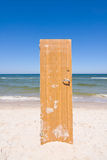 Door to beach Stock Images