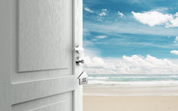 Door  to beach Stock Photo