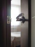 Door to the bedroom Stock Photos