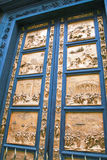 The door to the biblical episodes, Florence. Royalty Free Stock Image