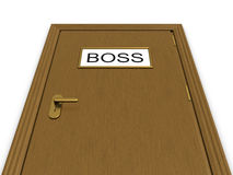 Door to boss office. 3d illustration Royalty Free Stock Photo
