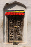 Door to Boudanath Stupa Royalty Free Stock Images
