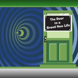 Door to a brand new life Royalty Free Stock Photo