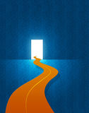 Door to bright Future. This curvy Path takes us to the door of bright future Stock Photography
