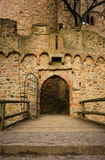 Door to a castle. Doorway and metal gate on medieval castle of Auerbach, Germany Royalty Free Stock Photography