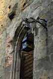 Door to cathedral on Oybin castle and monastery Royalty Free Stock Photo