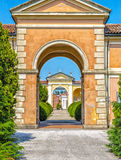 door to a cemetery in Italy Stock Photos