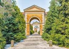 door to a cemetery in Italy Royalty Free Stock Image
