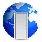 Door to the center of the world Royalty Free Stock Image