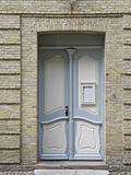 Door to the church hall in Christiansfeld, Denmark Stock Images
