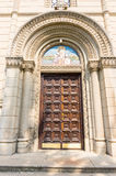 The door to the Church of St. Nicholas in the Leskovac, Serbia royalty free stock images