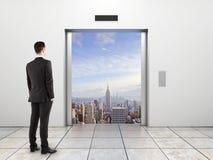 Door to city Royalty Free Stock Photo