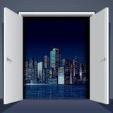 Door To City Royalty Free Stock Image