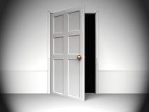 Door to darkness Stock Image