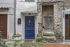 Door to each in Castel Vittorio Royalty Free Stock Photo
