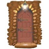 Door to the fairytale castle vector illustration
