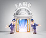 Door to Fame and Doormen Stock Image