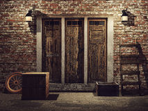 Door to a farm building Royalty Free Stock Images