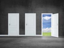 Door to field Stock Photography