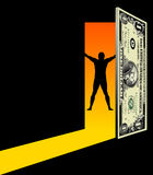 Door to Financial Freedom Stock Photos