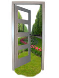 Door to freedom. Isolated object royalty free stock photography
